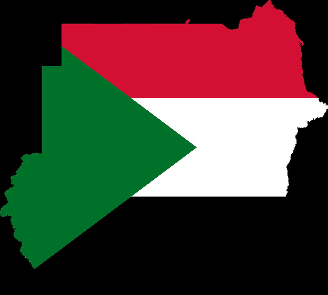 sudan, flag, map